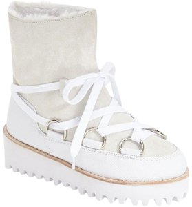 Jeffrey Campbell Alpine Faux Fur Lined Snow Platform Winter White Boots