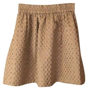 Marc Jacobs Skirt Oatmeal with silver polka dots