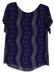 Marchesa Voyage Marchesa Silk Bandana Top Blue