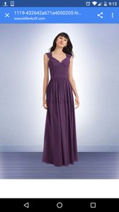 Bill Levkoff Plum 1119 Dress
