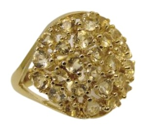 Technibond Sevilla Silver with Technibond Round Citrine Cluster Ring 7