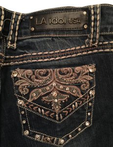 LA Idol Size 30 Long Length Skinny Jeans-Dark Rinse