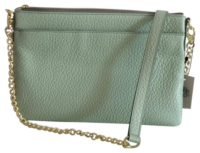Item - Sydney Chain Top Pale Green Leather Cross Body Bag
