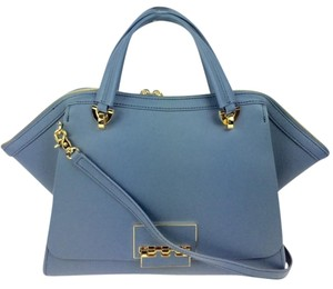 Zac Posen Leather Large Satchel in blue