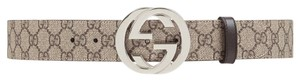 Gucci GG Supreme belt with G buckle 100cm