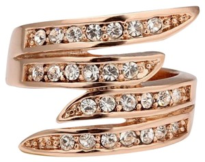Other Austrian crystal and rose gold plated ring