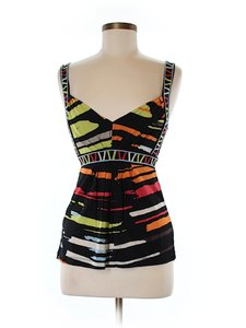 BCBGMAXAZRIA Print Sleeveless Top