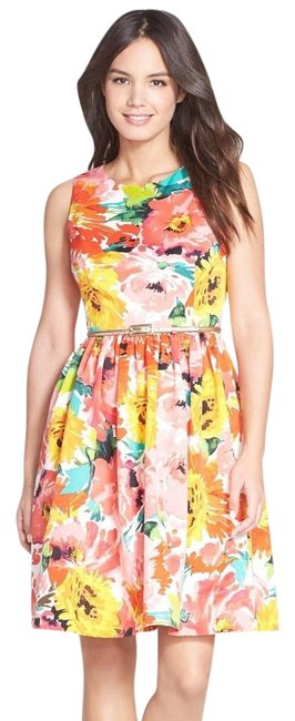Preload https://img-static.tradesy.com/item/19976967/eliza-j-print-belted-faille-fit-and-flare-above-knee-cocktail-dress-size-14-l-0-2-650-650.jpg