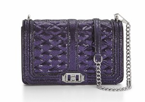 Rebecca Minkoff Full Love Midnight Caviar Quilted Leather Cross Body Bag
