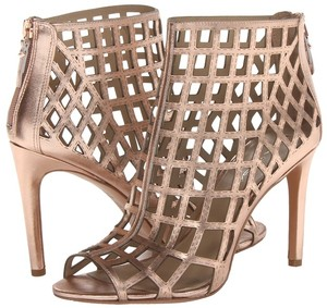Via Spiga Ankle Sandal Stiletto Rose Gold Boots