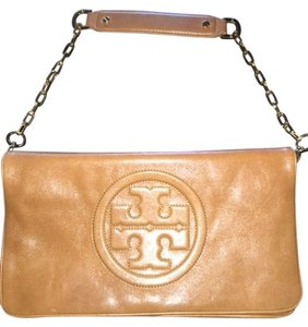 Tory Burch Reva Bombe TAN Clutch