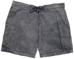 Elizabeth and James Distressed Mini/Short Shorts Blue