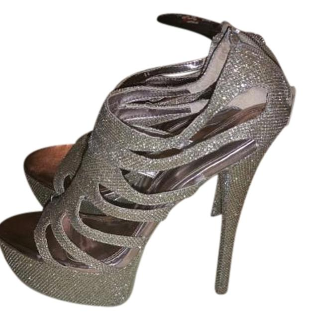 Chinese Laundry Gold Sparkling Platforms Size US 10 Regular (M, B) Chinese Laundry Gold Sparkling Platforms Size US 10 Regular (M, B) Image 1