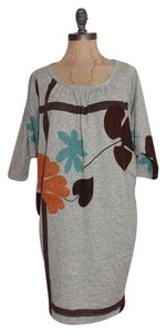 Renee C. short dress GRAY Sweater Floral on Tradesy