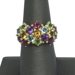 Other 14K Yellow Gold Multi-Color Stones Ring