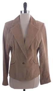 Boston Proper Suede Western Jacket Small Size Beige Blazer
