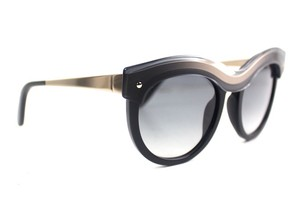 Salvatore Ferragamo Black Round Sunglasses New SF774S