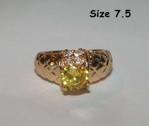 Yellow Gold Bogo Free Lemon Topaz Fashion Free Shipping Ring