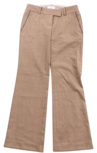 Ann Taylor LOFT Houndstooth Marisa Fit Dress Straight Pants Brown