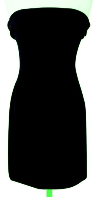 Preload https://item1.tradesy.com/images/victor-costa-black-strapless-bow-back-knee-length-cocktail-dress-size-4-s-1997810-0-0.jpg?width=400&height=650
