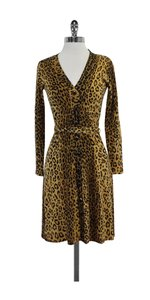 MILLY short dress Leopard Print Wool Button Up Sweater on Tradesy