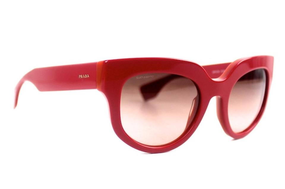 1e3c0885254d Prada Red Round New Spr07q Sunglasses - Tradesy