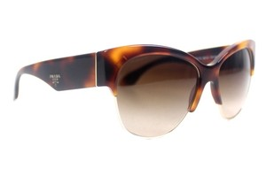 Prada Cat Eye Havana Tortoise Sunglasses New SPR11R