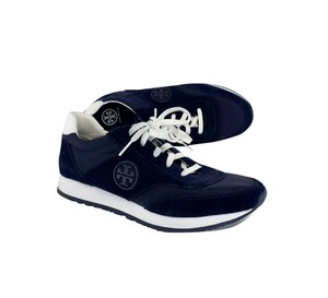 Tory Burch Navy Suede Sneakers Boots