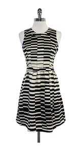 Parker short dress Black & Cream Geo Print Silk on Tradesy
