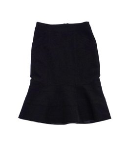 Nanette Lepore Black Flared Hemline Skirt