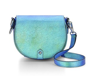 Rebecca Minkoff Iridescent Astor Saddle Leather Cross Body Bag