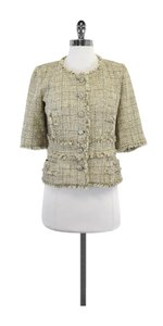 Chanel Cropped Gold Tweed Jacket