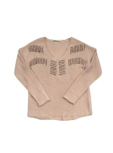 Twelfth St. by Cynthia Vincent Apricot Knit Sweater