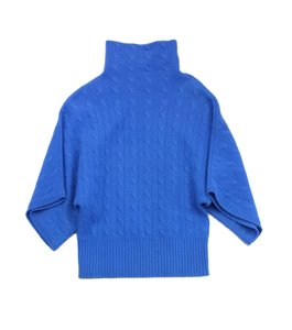 Ralph Lauren Blue Cable Knit Cashmere Sweater