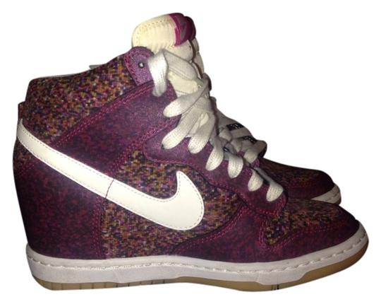 Nike Burgundy Wedges