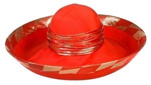 Marc Valerio Designs Marc Valerio Designs Red and Gold Hat
