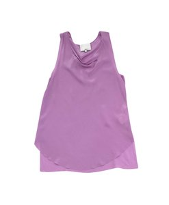 3.1 Phillip Lim Lilac Silk Cowl Neck Top