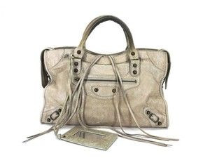 Balenciaga 2way First Editors Choice Satchel in Light gray
