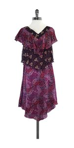 Anna Sui short dress Plum Tone Tiered Top Silk on Tradesy