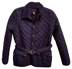 Ralph Lauren Quilted Belted Longsleeve Polyester Newport Navy Jacket