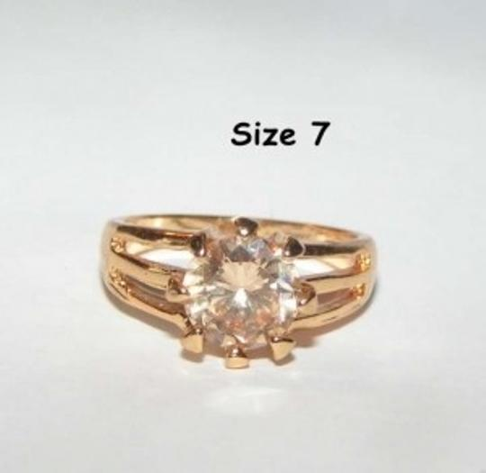 Yellow Gold Bogo Free Champagne Topaz Free Shipping Ring