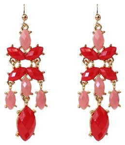 Other Carmine & Light Pink Chandelier Earrings