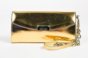 Jimmy Choo Metallic Gold Clutch