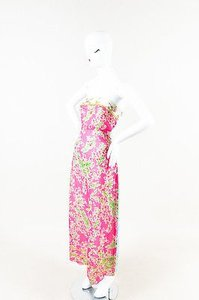 Multi-Color Maxi Dress by Cynthia Rowley Pink Blue