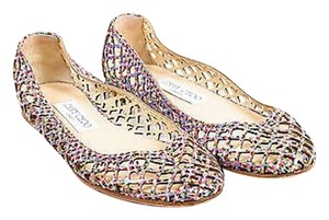 Jimmy Choo Coated Leather Multi-Color Flats