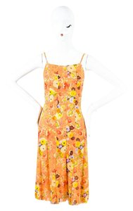 Chanel short dress Multi-Color Watercolor Printed Sleeveless on Tradesy