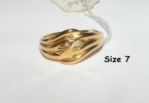 Diamond Cut Gold Filled Band Free Shipping