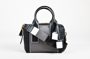 Pierre Hardy Black Gray Satchel in Black, Gray, White