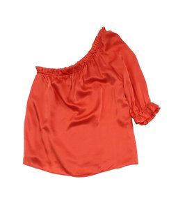 MILLY Orange Silk One Top