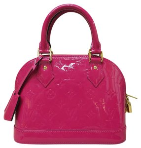 Louis Vuitton Lv Vernis Alma Bb Satchel in Berry